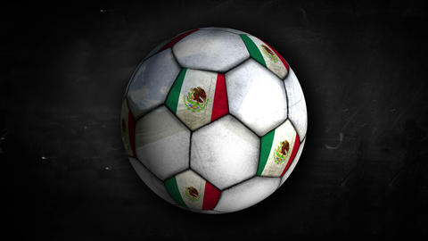 Mexico Ball Rotation Looping Alpha Matte 4k Animation