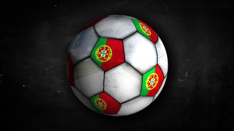 Portugal Ball Rotation Looping Alpha Matte 4K Animation