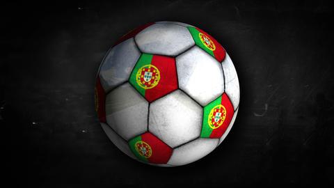 Portugal Ball Rotation Looping Alpha Matte 4K Animation