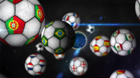Football Background Zoom to Earth Brazil Network 4 Animation