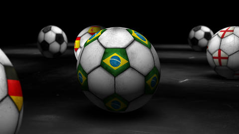 Zoom to Brazil Ball 4K Resoltion Ultra HD Animation