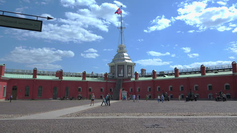 Bastion of the Peter and Paul fortress. St. Peters Footage