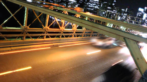 Bridge Traffic Time Lapse at Angle Footage