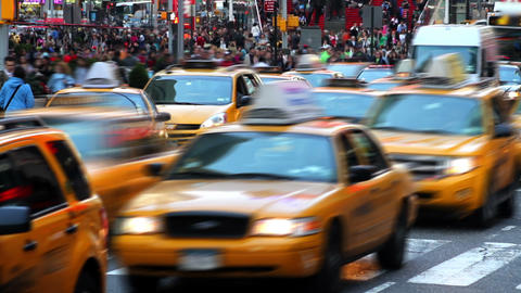 Bustling City Time Lapse Footage