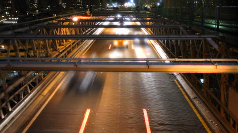 Night Traffic Time Lapse Footage
