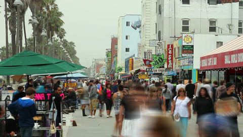 Venice Beach Time Lapse stock footage