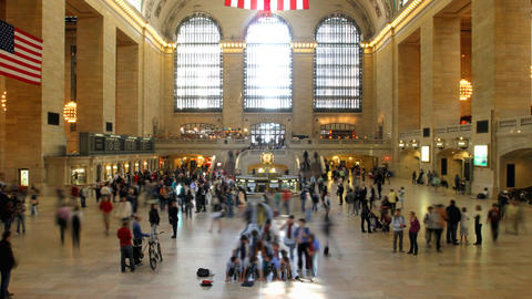 Grand Central Time Lapse 1 stock footage