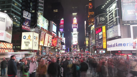 Times Square Crowd Time Lapse 2 Footage