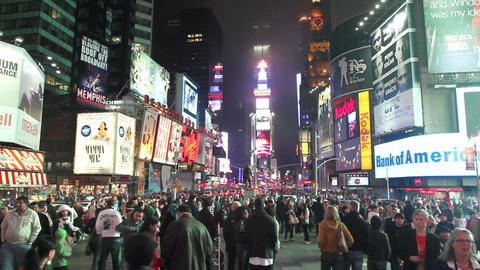 Times Square Crowd ビデオ