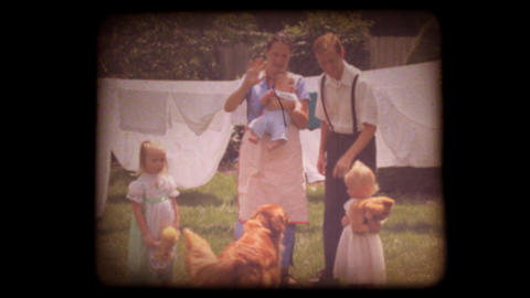 Old 8mm Family Home Movie stock footage