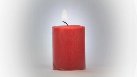 Candle on White Footage