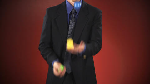 Businessman Juggling stock footage