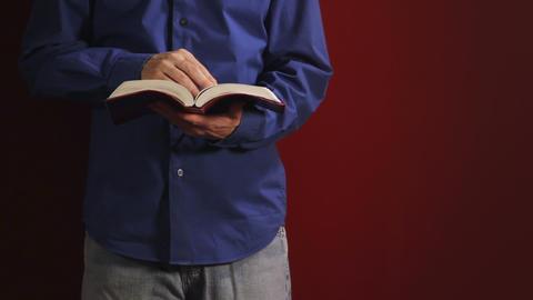 Man Reading Bible Footage