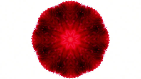 abstract red color burst object vj loop Animation