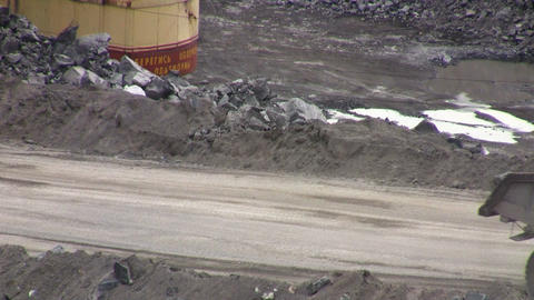 Mining careers with industrial car Footage