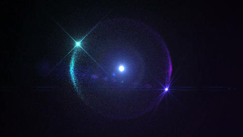 Particles Sphere Optical Flare Blue Purple Looping stock footage