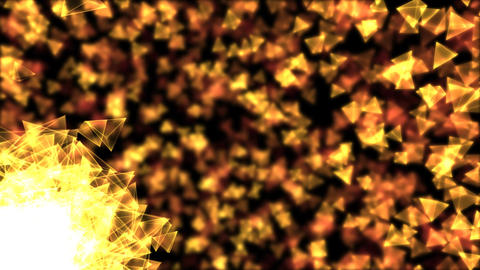 Rotating Pyramids Animation - Loop Golden Animation
