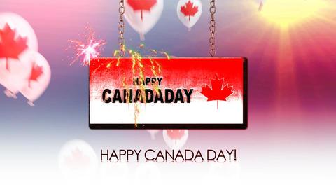 happy canada day Animation