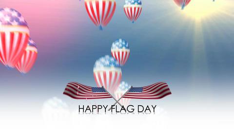 happy flag day Animation