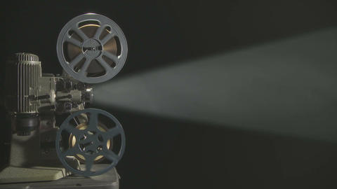 Film Projector w 05 smoke Footage