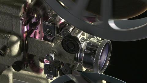 Film projector cu 04 Stock Video Footage