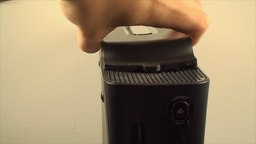 Gaming Console Hand Detail Putting HDD Back In, Ga Footage