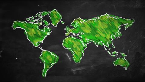 Movement World sketch green painting Looping Anima Animation