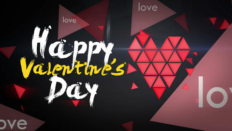 Happy Valentine's Day Looping Animation Animation