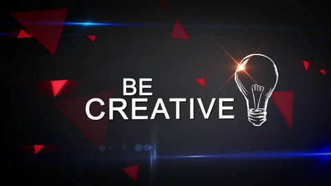 Think Different and Be Creative Looping animation Animation