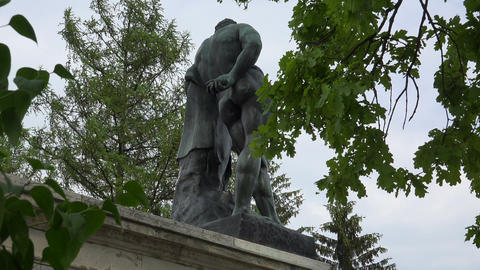 The statue from the Cameron gallery. Pushkin. Cath Footage