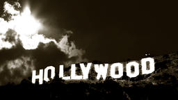 Hollywood Sign Time-lapse 2 Classic stock footage