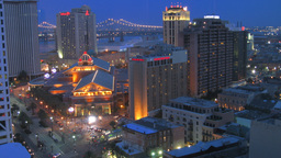 New Orleans Sunset Time-Lapse stock footage