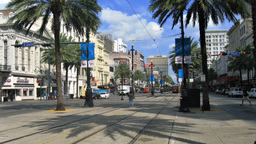 New Orleans Streetcars on Canal Time-Lapse Footage