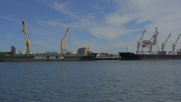 Container Ships Docked at Fremantle Port Footage