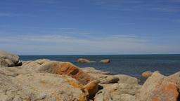 Bunker Bay Rocks Looking Across Geographe Bay Footage