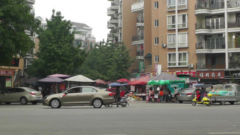 Jintang Town Chengdu Area Sichuan China 39 Street  stock footage