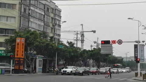Jintang Town Chengdu Area Sichuan China 51 street  Footage