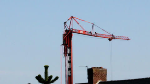 Tower Crane Full Movement stock footage