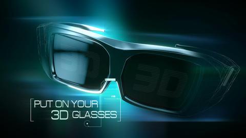 3D Glasses animation Animation