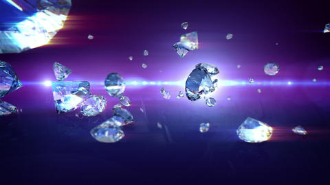 Diamonds falling Animation