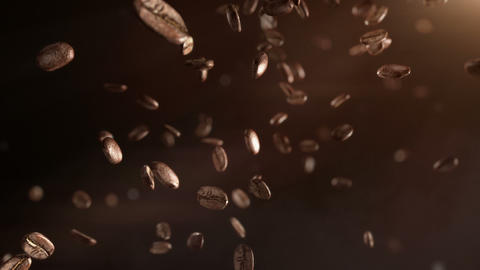 Coffee Beans Flight stock footage