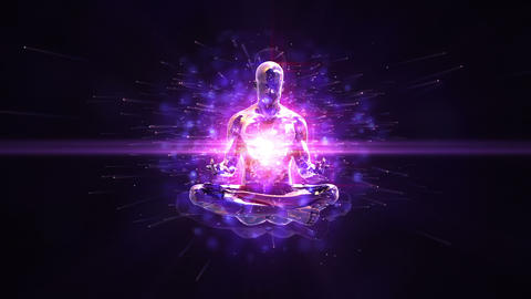 Meditation Loopable Background stock footage