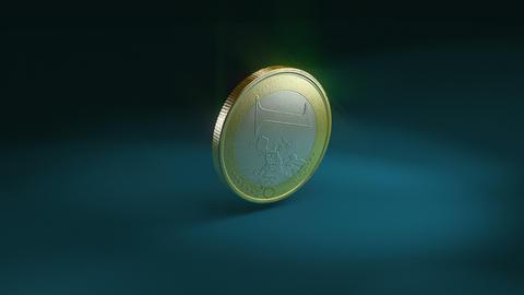 Euro coin crash Animation