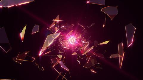 Flying broken glass Animation