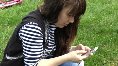 Elegant Beautiful Woman Texting On Smartphone, Clo stock footage
