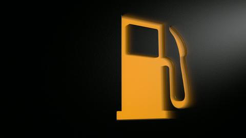 car petrol light blinking pan HD Animation