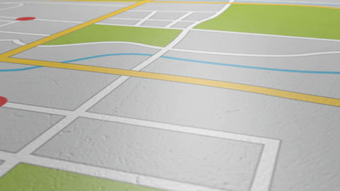Gps Map Pan HD stock footage
