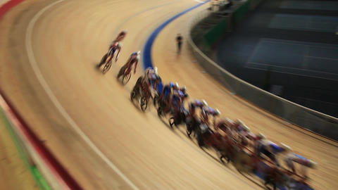 bicycle race speed blurred motion sequence Footage