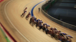 bicycle race speed blurred motion sequence Live Action