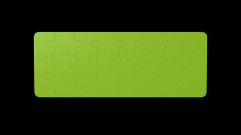 Puzzle G Color stock footage